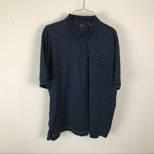 Izod golf mens blue polo shirt XL